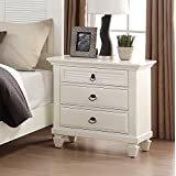 Roundhill Furniture Regitina 016 Bedroom Nightstand, White