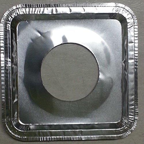 40 Pcs. Aluminum Foil Square Gas Burner Disposable Bib Liners Covers