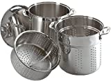 all clad 12 qt multi cooker - All-Clad E796S364 Specialty Stainless Steel Dishwasher Safe 12-Quart Multi Cooker Cookware Set, 3-Piece, Silver by All-Clad