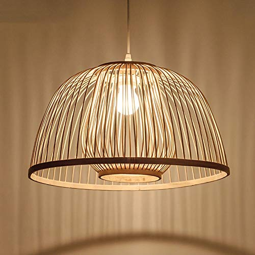 DULG Japanese Restaurant Pendant Light Bamboo Chandelier, Study Lamp, Farmhouse, Woven Lamp for Bedroom, Chandelier Living Room, Restaurant, Dining Room, Indoor Use, Flush Mount Hanging Light (Pendant Japanese Lights)