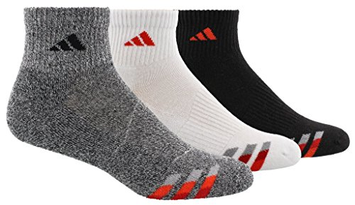 Crew Socks Tennis Adidas (adidas Men's Cushioned Quarter Socks (3-Pack), Grey, Size 6-12)