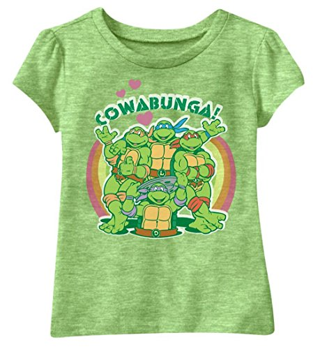Toddler Girls Teenage Mutant Ninja Turtles Glitter Cowabunga! Tee (5T)