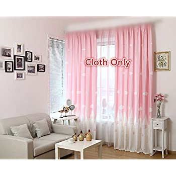 Amazon.com: Purple Nursery Sheer Curtains with All-over Embroidery ...