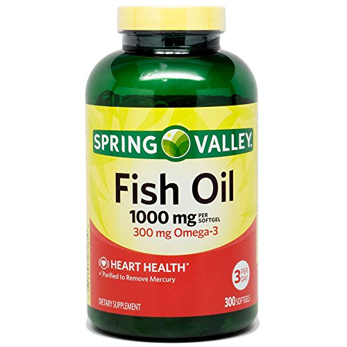 Spring valley fish oil 1000 mg 300 softgels for Spring valley fish oil review