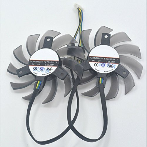 110mm 12v Fan : Fd h s mm vga video card dual fan for sapphire