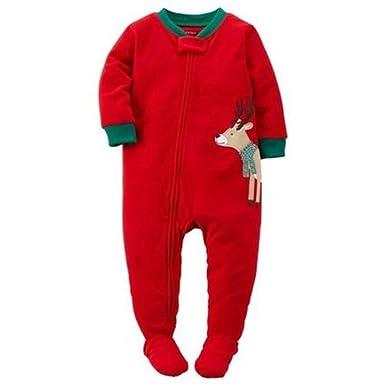 07b86b5bc Amazon.com  CARTER S Boy s Size 3T Fleece Red Christmas Reindeer ...