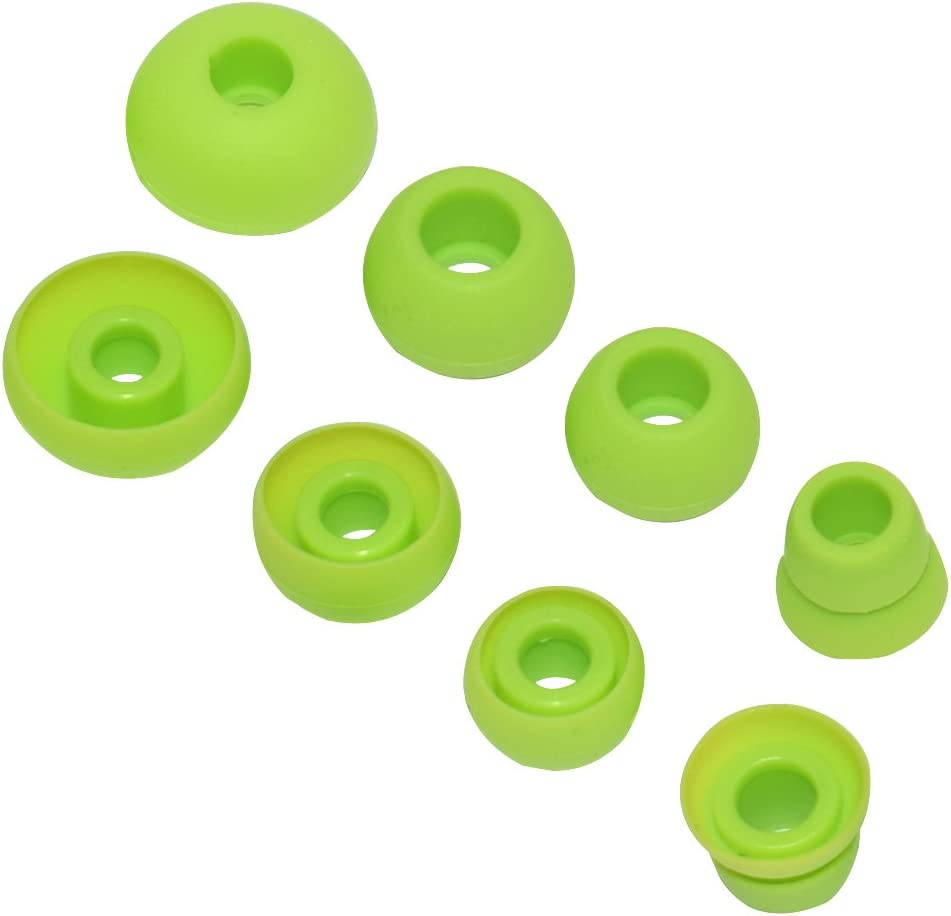 Replacement Silicone Ear Tips Earbuds Buds Set Compatible Powerbeats 2 Powerbeats 3 Wireless Earphones Green