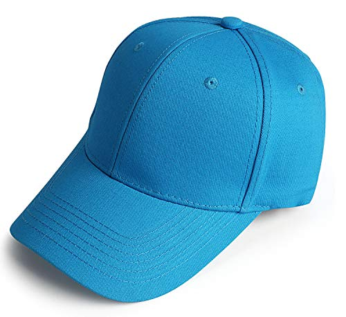 Baseball Cap for Men Women Classic Plain-Sky Blue