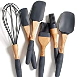 PortoFino 6 Pc. Baking Utensil Set - Beech Wood & Silicone - Cooking / Kitchen Tools - 9
