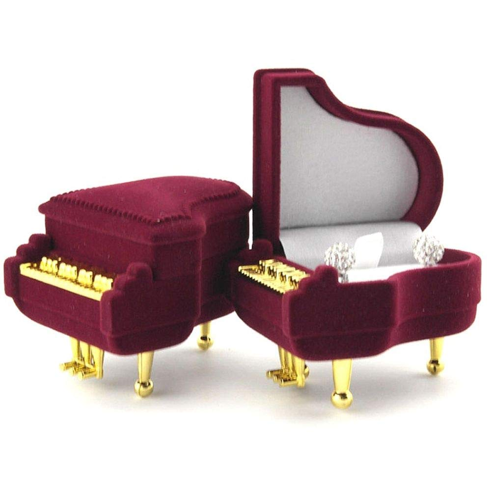 Valentines Gift - Piano Shape Velvet Ring box