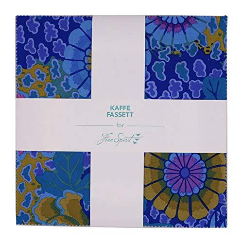 (Free Spirit Fabrics Kaffe Fassett Collective Peacock Ten Inch Charm Pack 42 Fabrics)