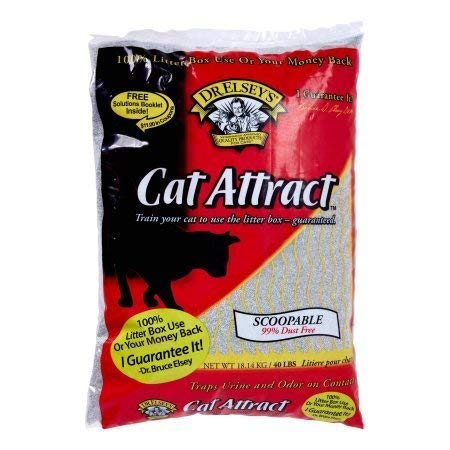 Bag Litter Clumping 40lb Cat (Dr. Elsey's* Cat Attract Clay and Natural Herbs Multi-Cat Litter, 40 lb Bag (2 Pack))