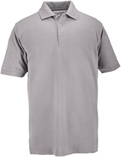 5.11 Tactical Series 41060 Short Sleeve Professional Polo Shirt (Heather Grey, Large)