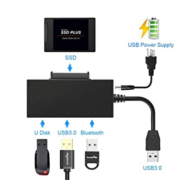 Zyx Puerto USB 3.0 Multi Puerto 2.5 Divisor De Adaptador SATA ...