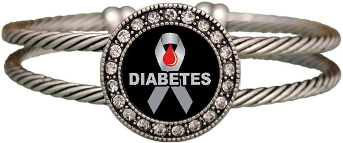 pulsera de cinta de conciencia de diabetes