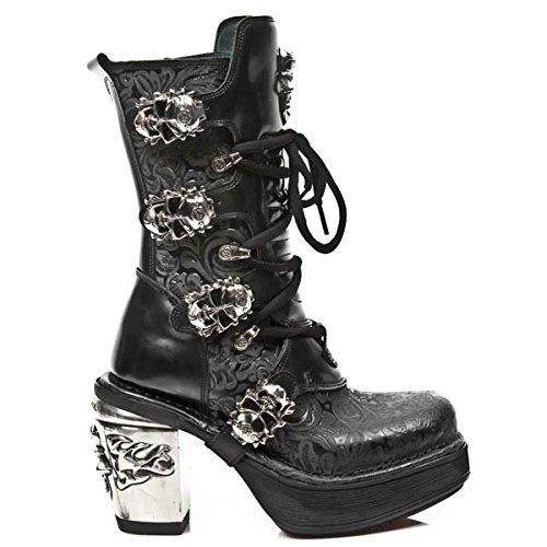 New S1 8366 NR Womens Black NEWROCK Boots M Rock X6wvpqxR