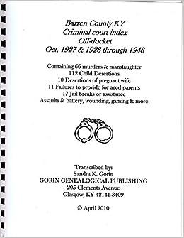 Barren County, Ky Criminal Court Index Off-docket: Oct, 1927