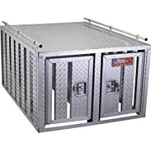 Southern-Style 2-Door Diamond Plate Dog Box without Floor