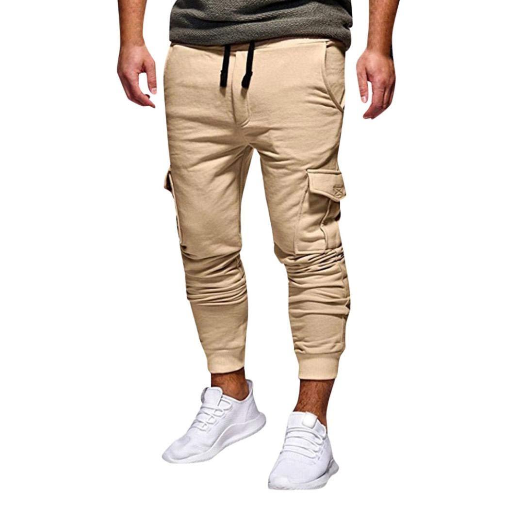 Realdo Hot!Clearance Sale Fashion Men's Sport Fitness Casual Loose Sweatpants Drawstring Jogger Pant(X-Large,Khika)