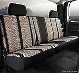 Fia TR42-38 BLACK Custom Fit Rear Seat Cover Split Seat 60/40 - Saddle Blanket, (Black)