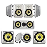Acoustic Audio HD726 in-Wall/Ceiling Home Theater Surround 7.2 Speaker System