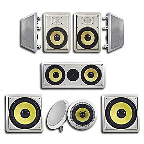Acoustic Audio HD726 in-Wall/Ceiling Home Theater Surround 7.2 Speaker System by Acoustic Audio by Goldwood