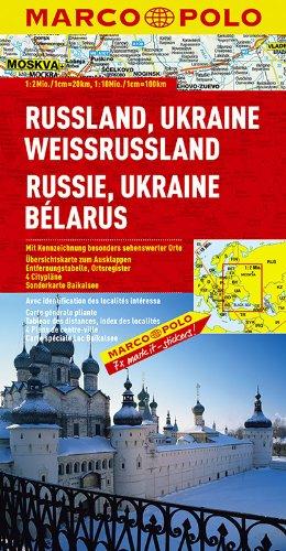 Russia Ukraine Belarus Marco Polo Map (Marco Polo Maps)