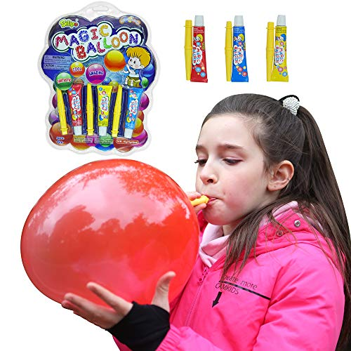 Bilipo - Plastic Bubble Balloons, Large Size Variety Pack - Blow Huge Bubbles Balloons ( Large )