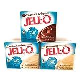 Jell-O Sugar Free Instant Pudding Variety Pack (Chocolate Fudge, White Chocolate & Cheesecake)
