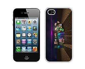 QiuCai Novelty Eiffel iPhone 4 4S Case White