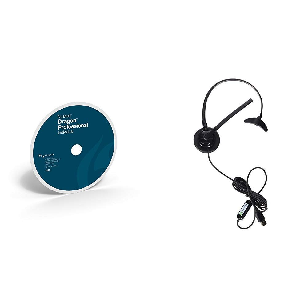 Dragon Professional Individual 15 [PC Disc] with Dragon USB Headset by Nuance Dragon