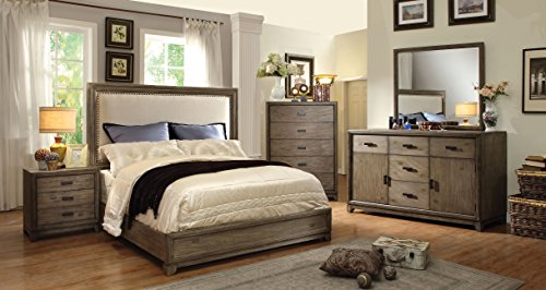 HOMES: Inside + Out 2 Piece ioHOMES Bellamy Rustic Bed Set, Queen, Natural Ash