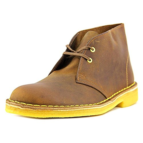 Clarks Desert bota del tobillo Beeswax Leather/Yellow Crepe