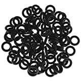 PiercingJ 100pcs Black O-Ring for Ear Piercing Gauge Kit 14G 12G 10G 8G 6G 4G 2G 0G 00G 1/2'. 3/4'