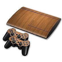 Sony PS3 Playstation 3 Super Slim Skin Design Foils Faceplate Set - Wood Design