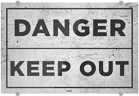 36x24 Basic Gray Premium Brushed Aluminum Sign CGSignLab Danger Keep Out
