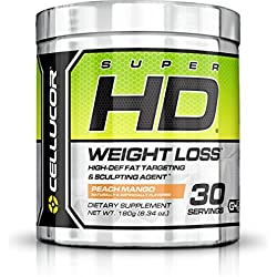 Cellucor SuperHD Thermogenic Fat Burner Powder Weight Loss Supplement for Men & Women, Peach Mango, 30 Servings