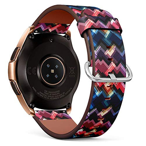 Compatible with Samsung Galaxy Watch (42mm) - Quick-Release Leather Band Bracelet Strap Wristband Replacement - Multicolor Brushed