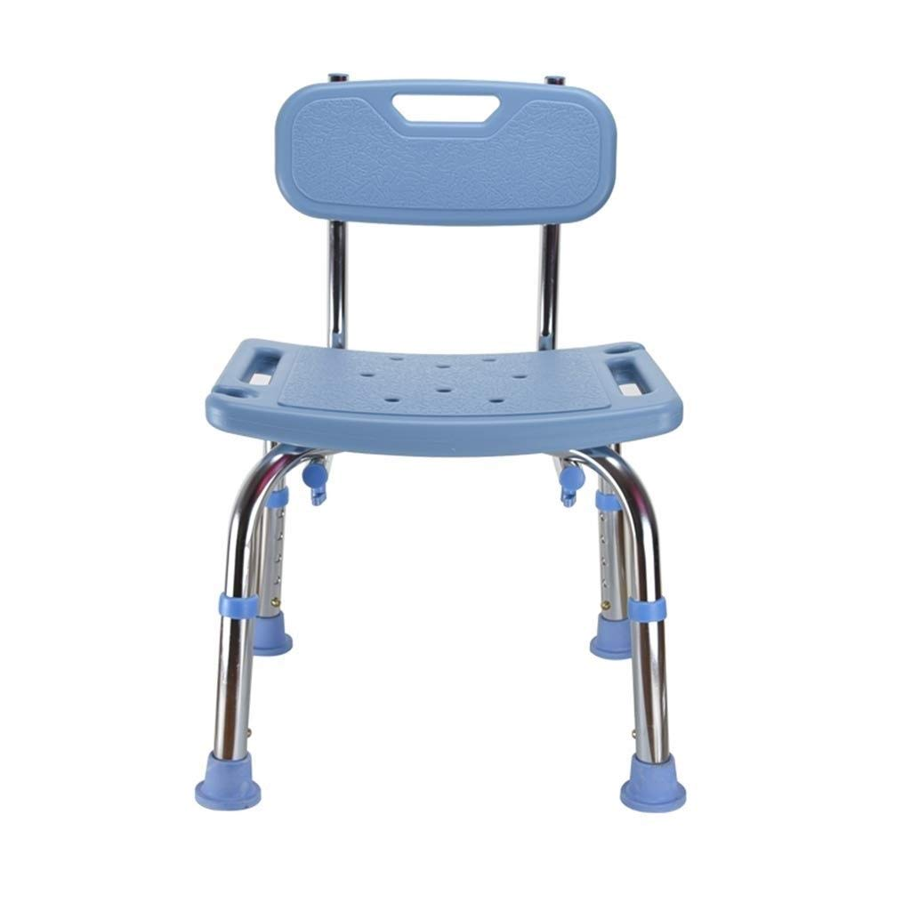 BEAUTY--shower stool , Pregnant Women/Elderly Bathroom Non-Slip Shower Chair,Height Adjustable Bath Assist, with Backrest