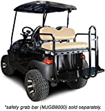 Madjax 01-001 Genesis 150 Rear Flip Seat Kit for 2004-Up Club Car Precedent Golf Carts Buff Cushions