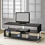 Coaster Home Furnishings 700652 Contemporary TV Console, Black