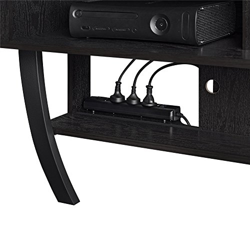 Best altra asher wall mounted 65 tv stand black oak for Best 65 tv wall mount