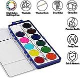 Keebor Basic 12-Colors Washable Watercolor Paint