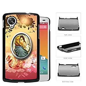 Religious Virgin Mary with Floral Design Nexus 5 Hard Snap on Plastic Cell Phone Case Cover