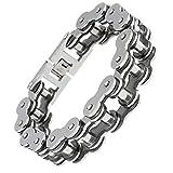 Best Adisaer Mens Bracelets - Adisaer Stainless Steel Bracelet Mens Bycicle Chain Length Review