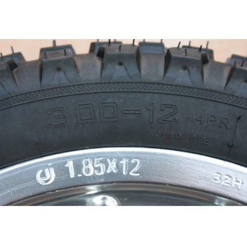 12'' Rear Tire Wheel Assembly for 110cc 125 cc 150cc Dirt Bikes Pit Bike SSR Roketa Coolster
