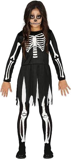 Guirca Disfraz de Esqueleto Negro para Niña: Amazon.es: Juguetes y ...