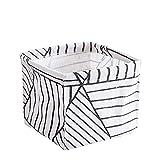Dressin Storage Tools,Storage Bin Closet Toy Box Container Organizer Fabric Basket Black
