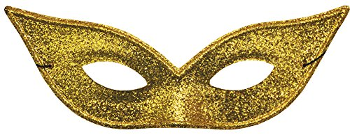Lame Harlequin Mask - Scary-Masks Harlequin Mask Lame Gold Halloween Costume - Most Adults