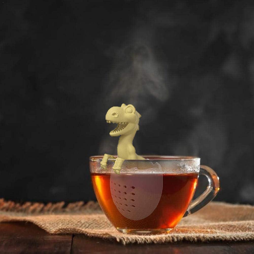 Silicone Leaf Herbal Spice Filter Dinosaur Shape Tea Infuser Strainers Reusable Safe Loose Leaf Tea Strainer for Loose Tea Tea Filter Bags